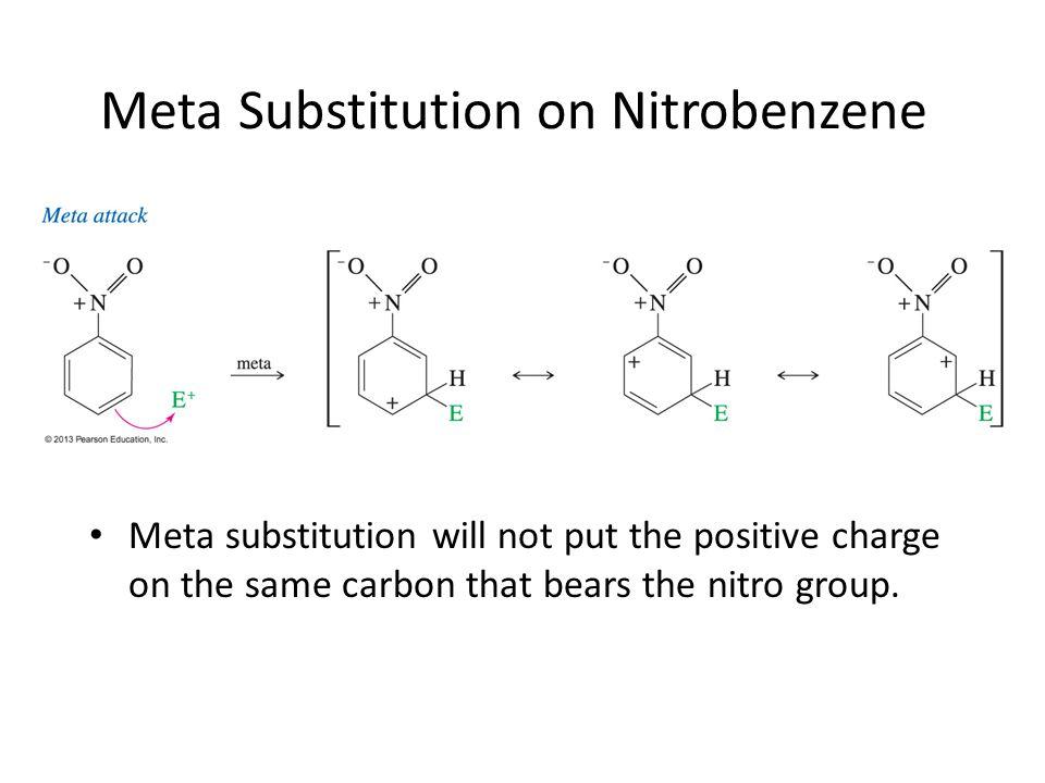 Meta Substitution on Nitrobenzene