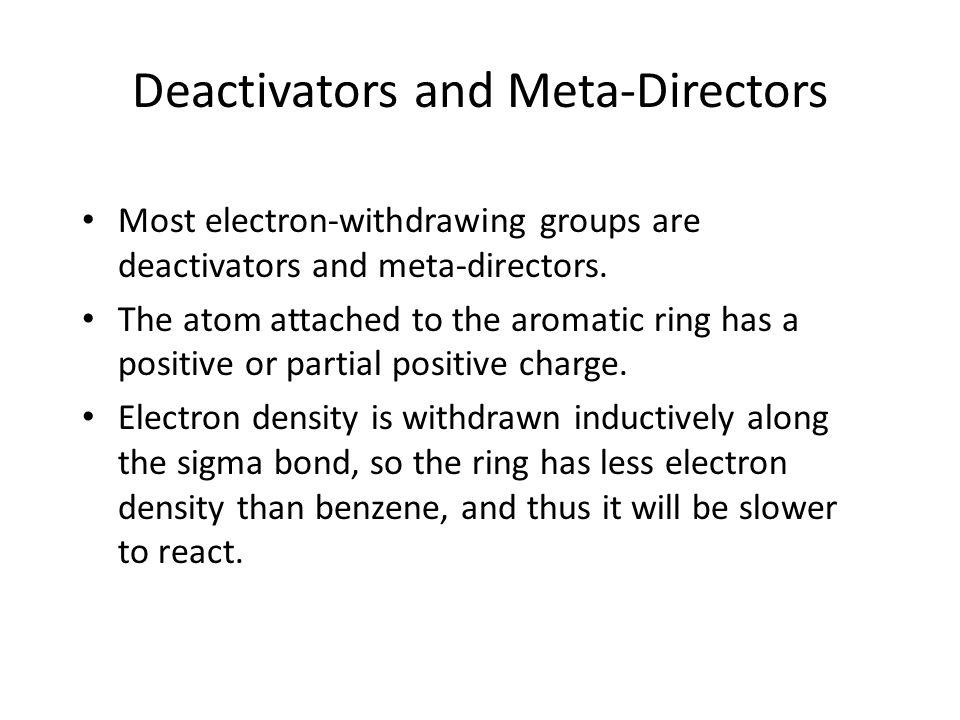 Deactivators and Meta-Directors
