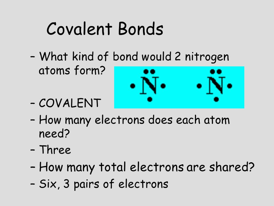 Covalent Bonds How many total electrons are shared