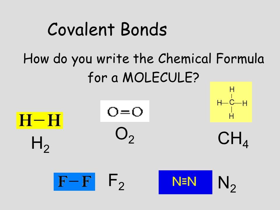 How do you write the Chemical Formula