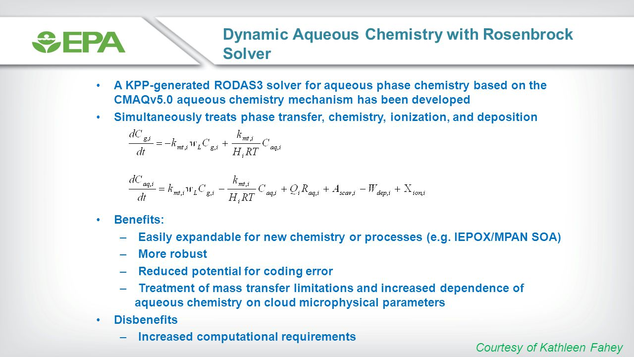 Dynamic Aqueous Chemistry with Rosenbrock Solver