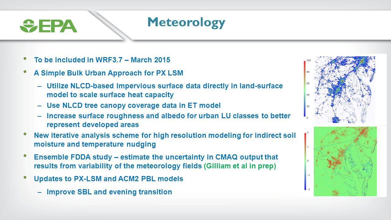 Meteorology To be included in WRF3.7 – March 2015