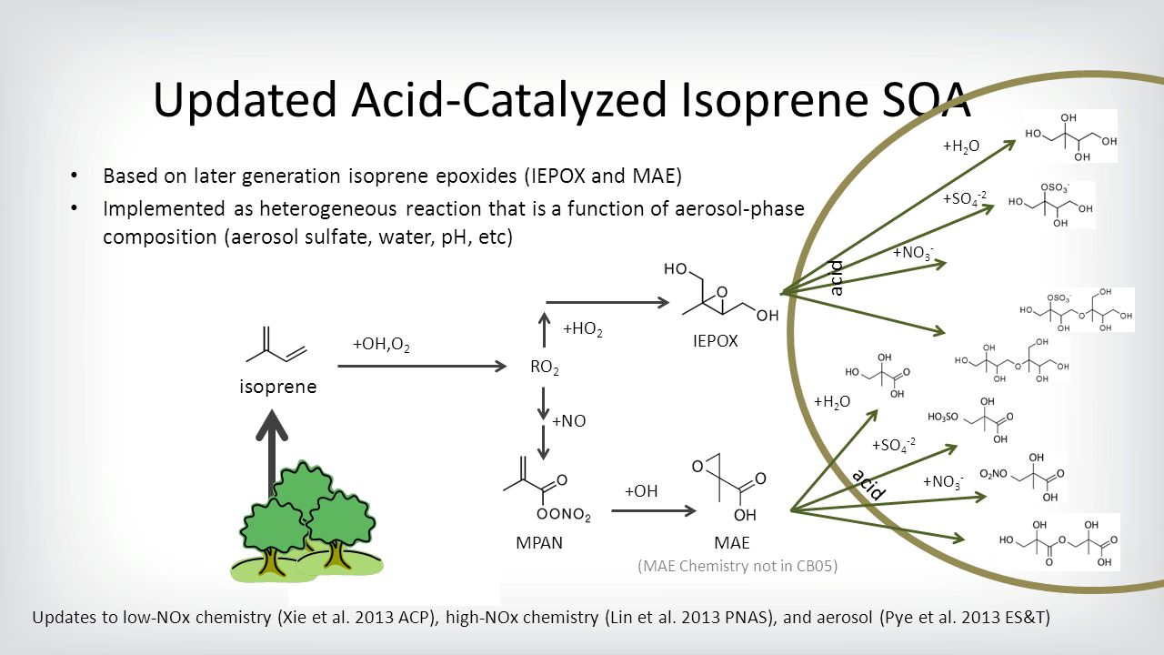 Updated Acid-Catalyzed Isoprene SOA