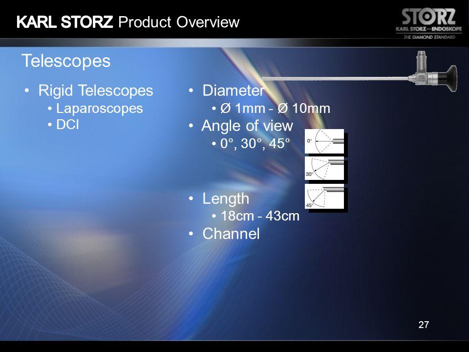 Telescopes KARL STORZ Product Overview Rigid Telescopes Diameter