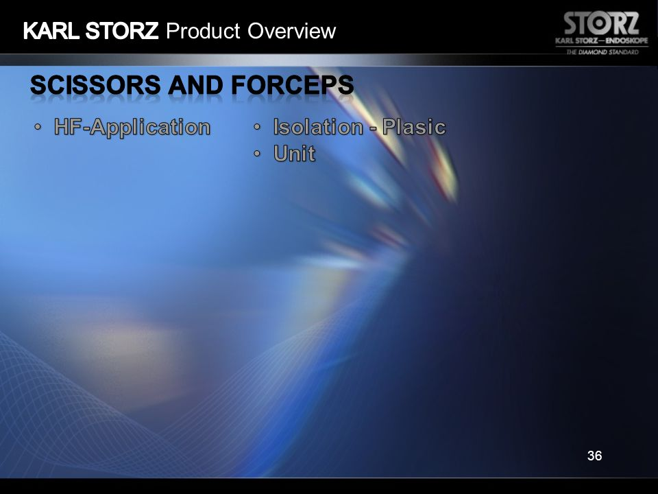 Scissors and Forceps KARL STORZ Product Overview HF-Application