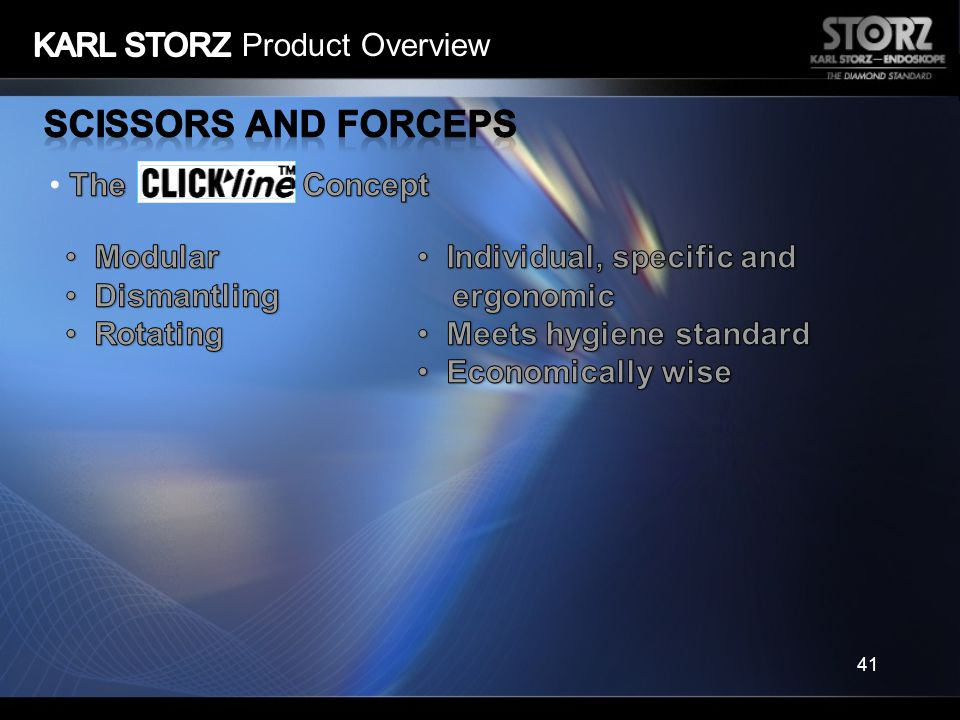 Scissors and Forceps KARL STORZ Product Overview The Concept Modular
