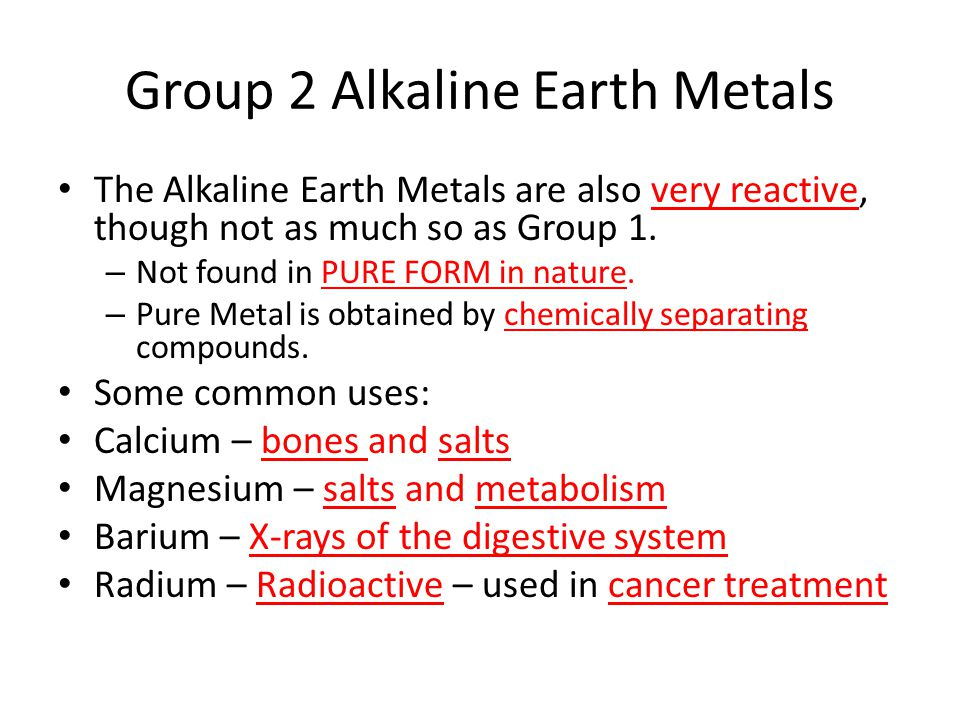 Properties of the elements ppt video online download group 2 alkaline earth metals urtaz Images