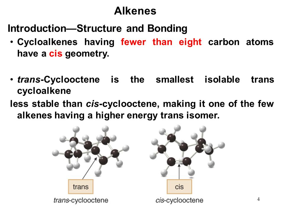 Alkenes Introduction—Structure and Bonding