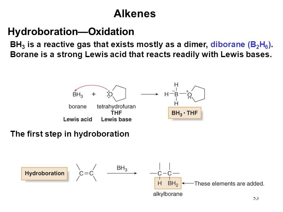Alkenes Hydroboration—Oxidation