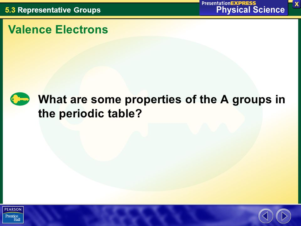 Valence Electrons What are some properties of the A groups in the periodic table
