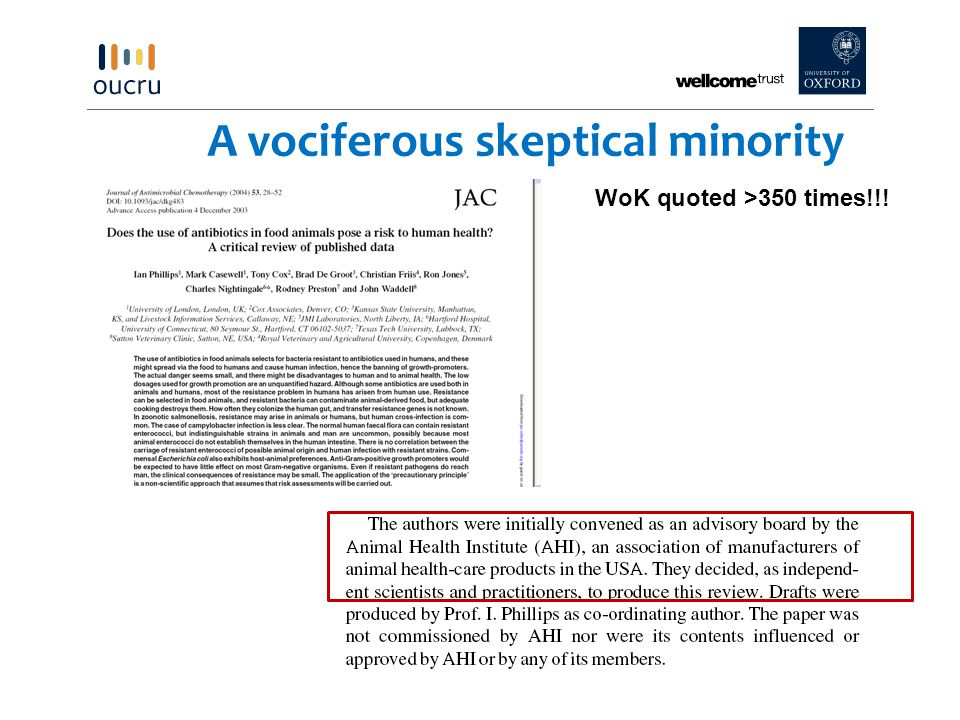 A vociferous skeptical minority