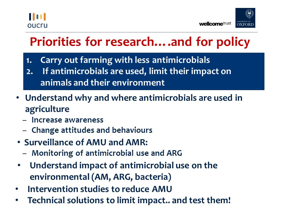 Priorities for research….and for policy