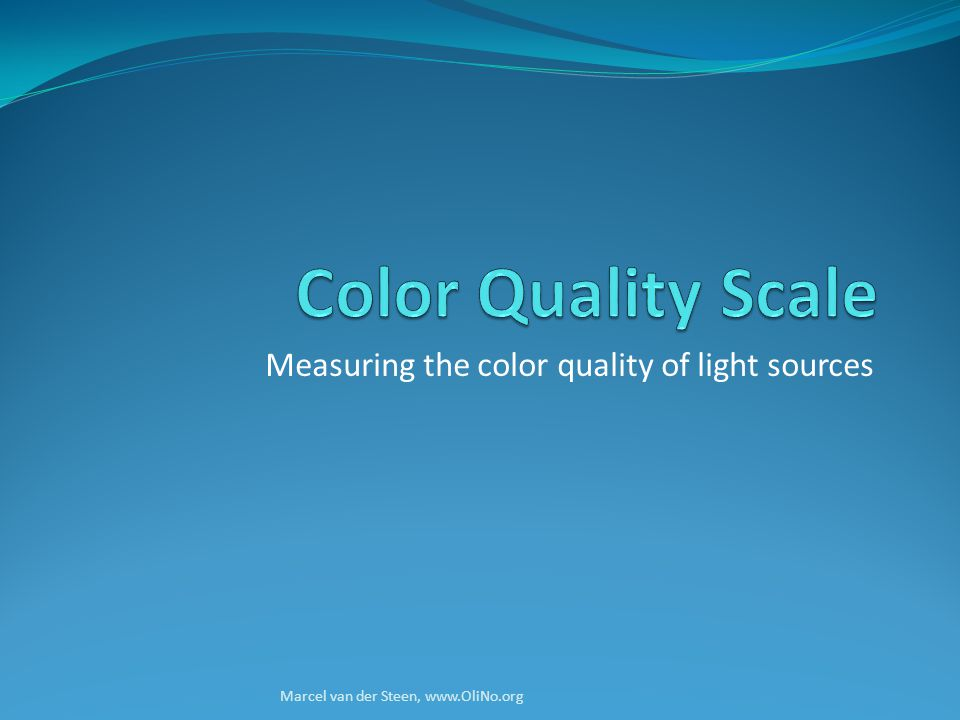 Measuring the color quality of light sources