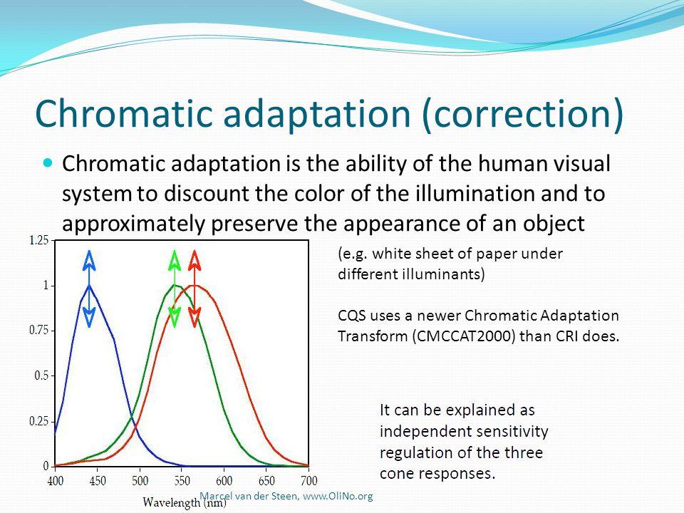 Chromatic adaptation (correction)