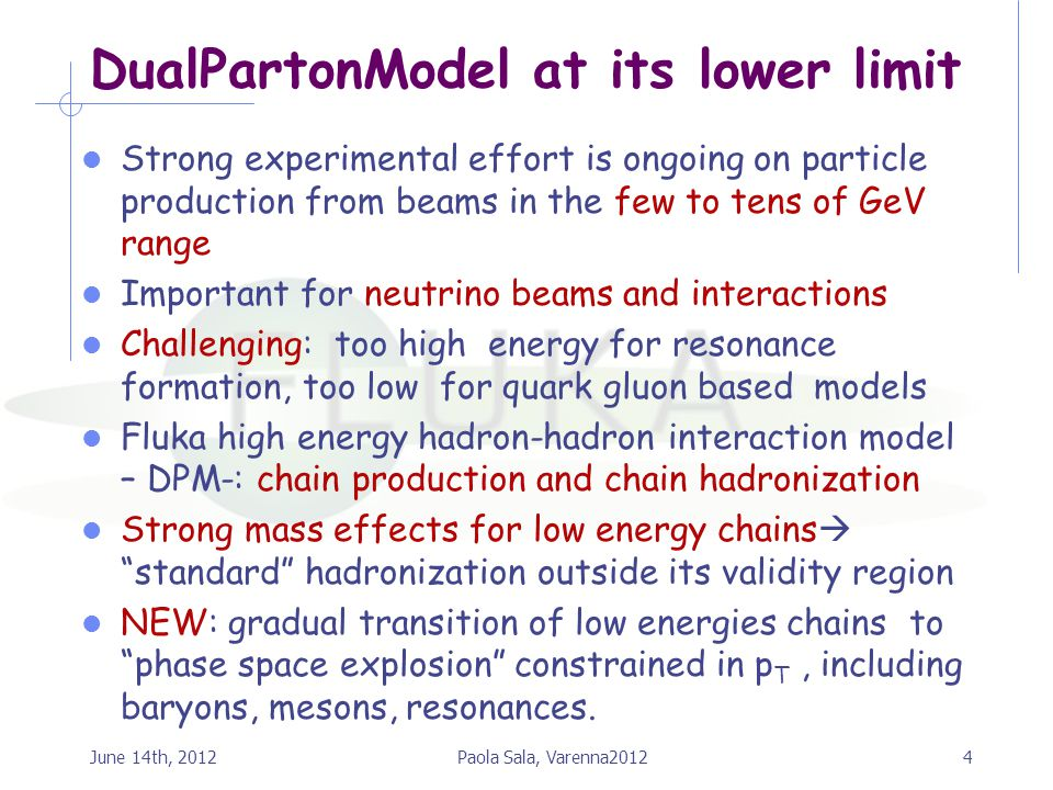 DualPartonModel at its lower limit