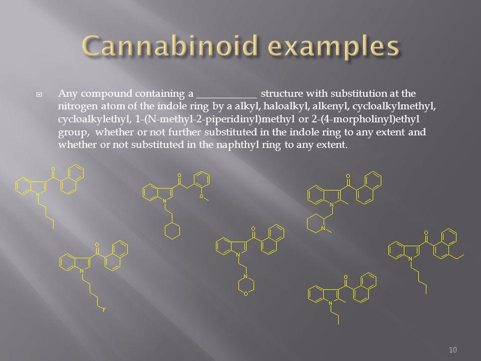 Cannabinoid examples