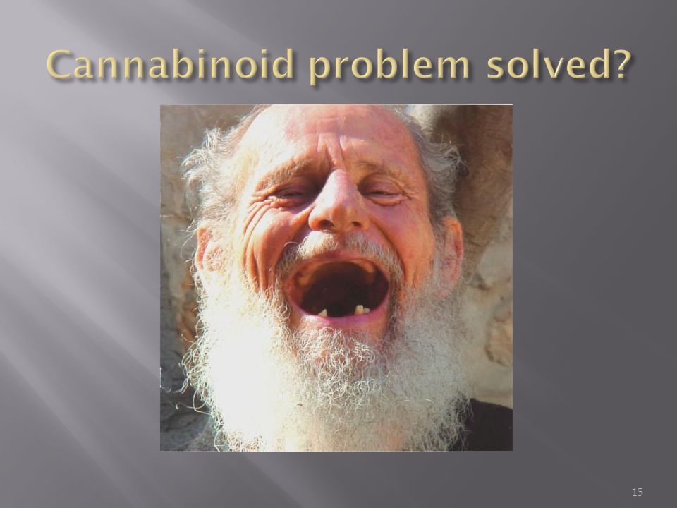 Cannabinoid problem solved