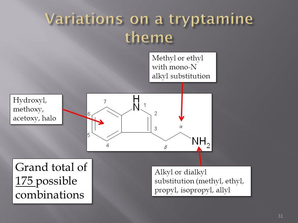 Variations on a tryptamine theme