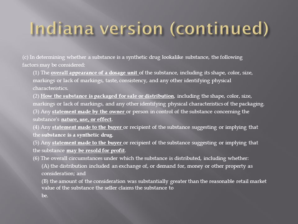 Indiana version (continued)