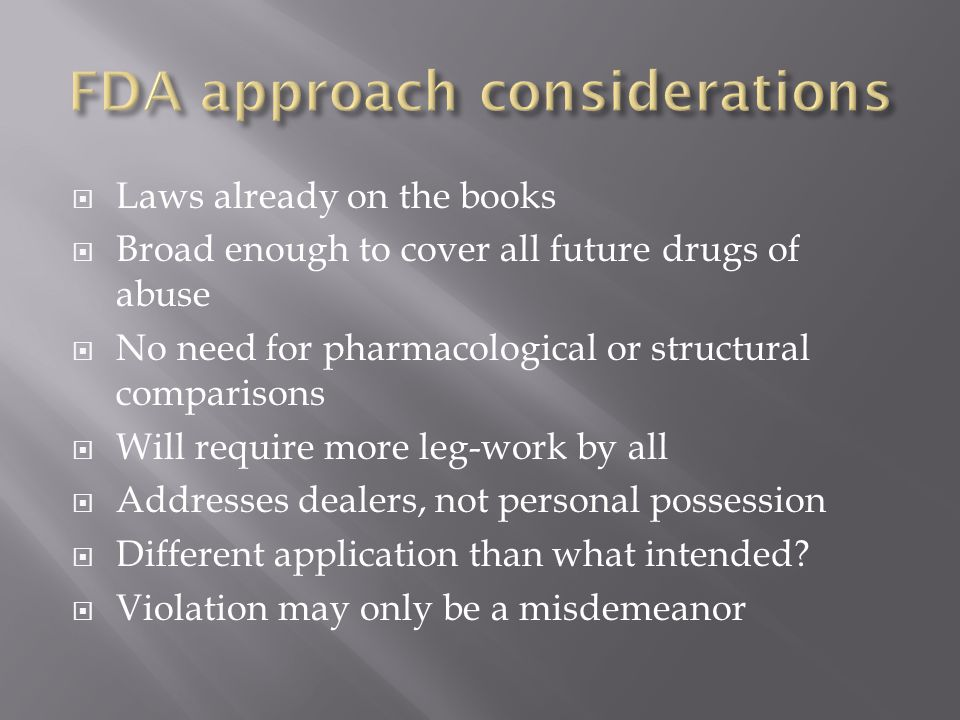 FDA approach considerations