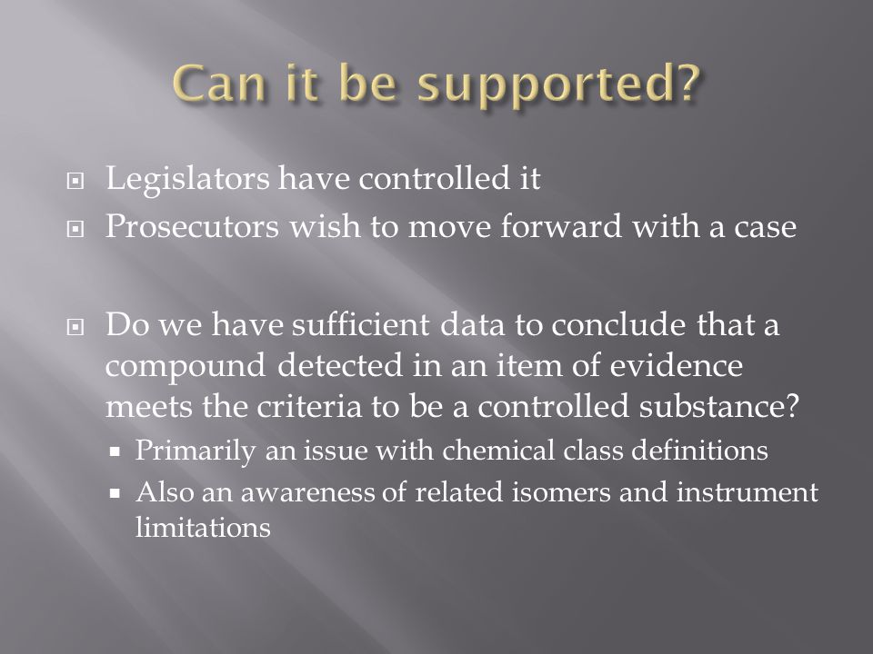 Can it be supported Legislators have controlled it