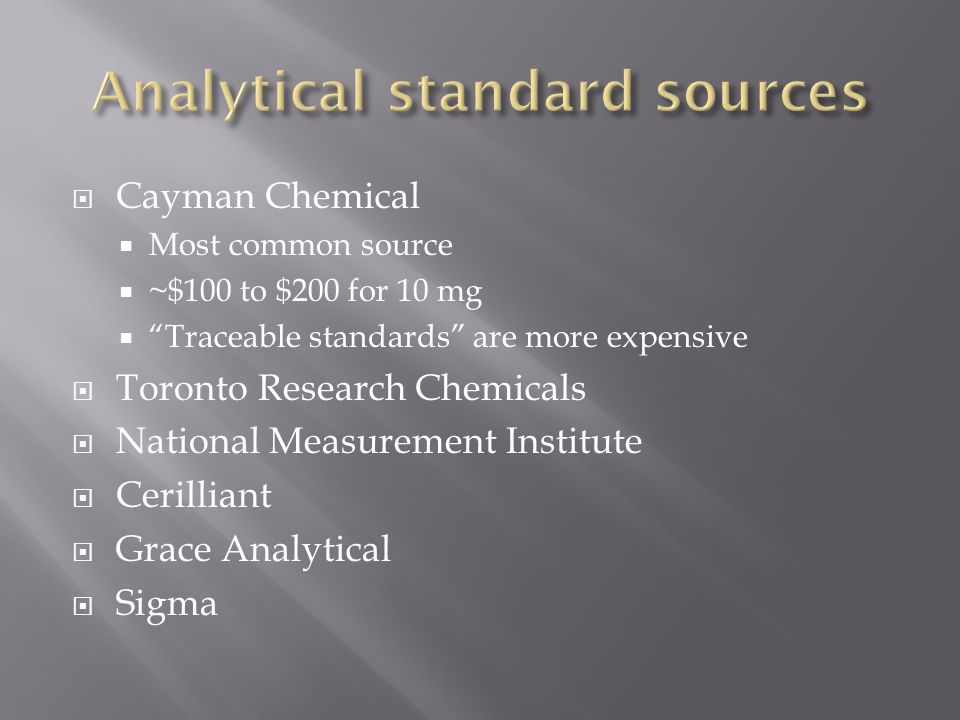 Analytical standard sources