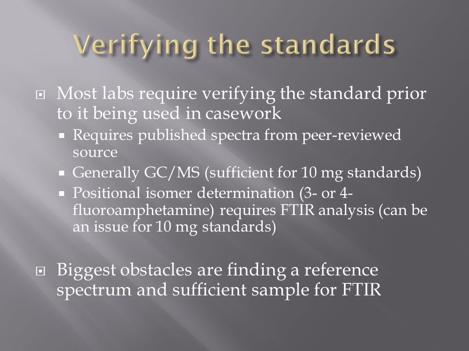 Verifying the standards