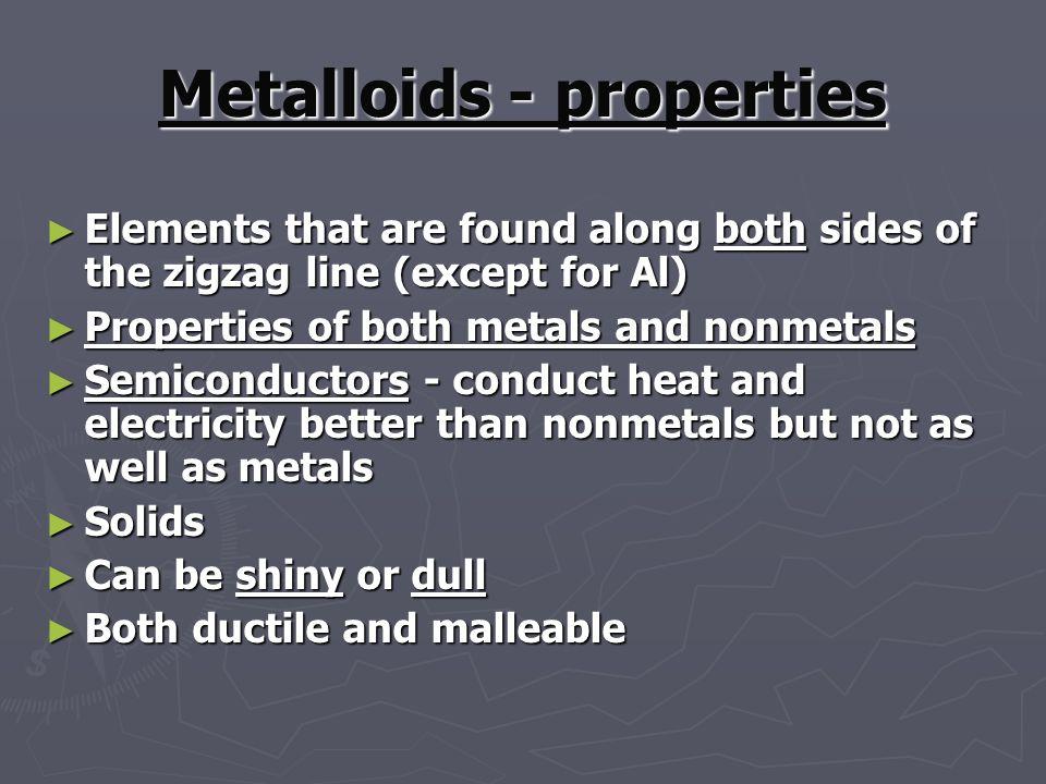 Metalloids - properties