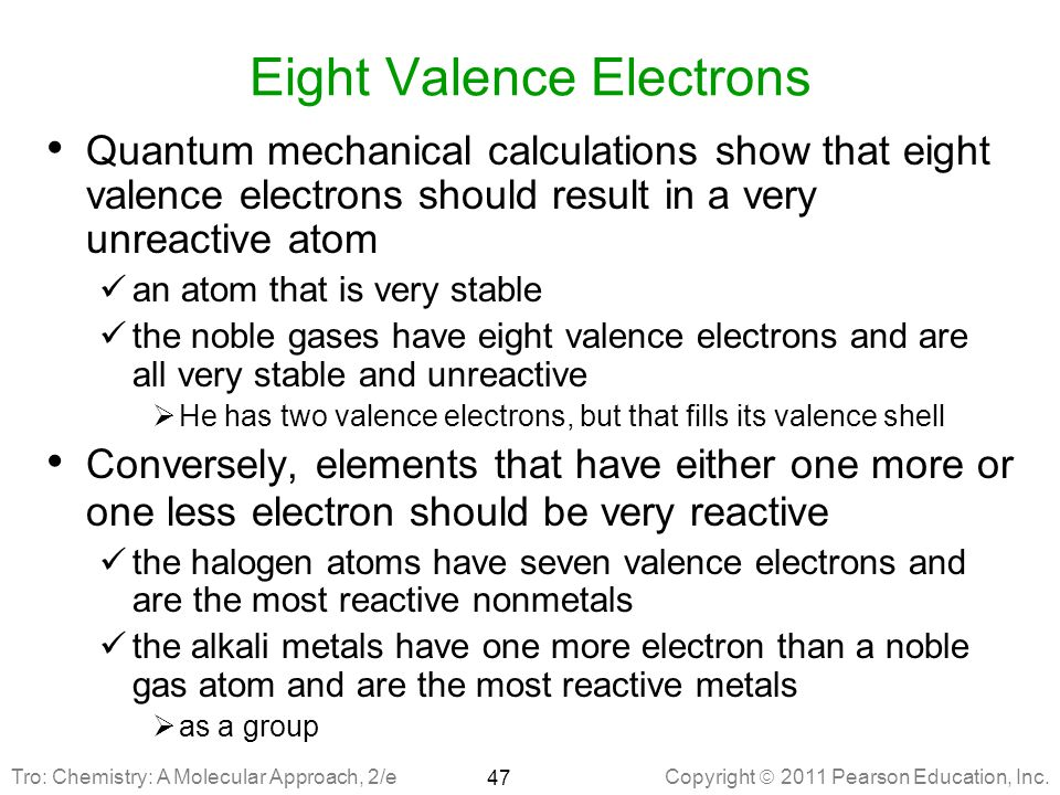 Eight Valence Electrons