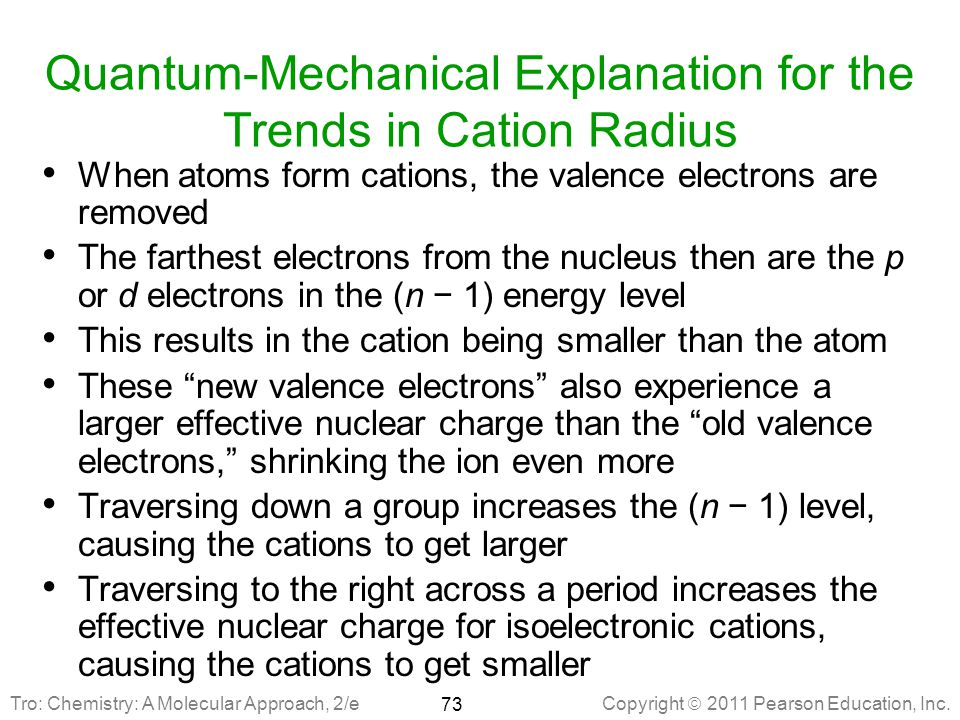 Quantum-Mechanical Explanation for the Trends in Cation Radius