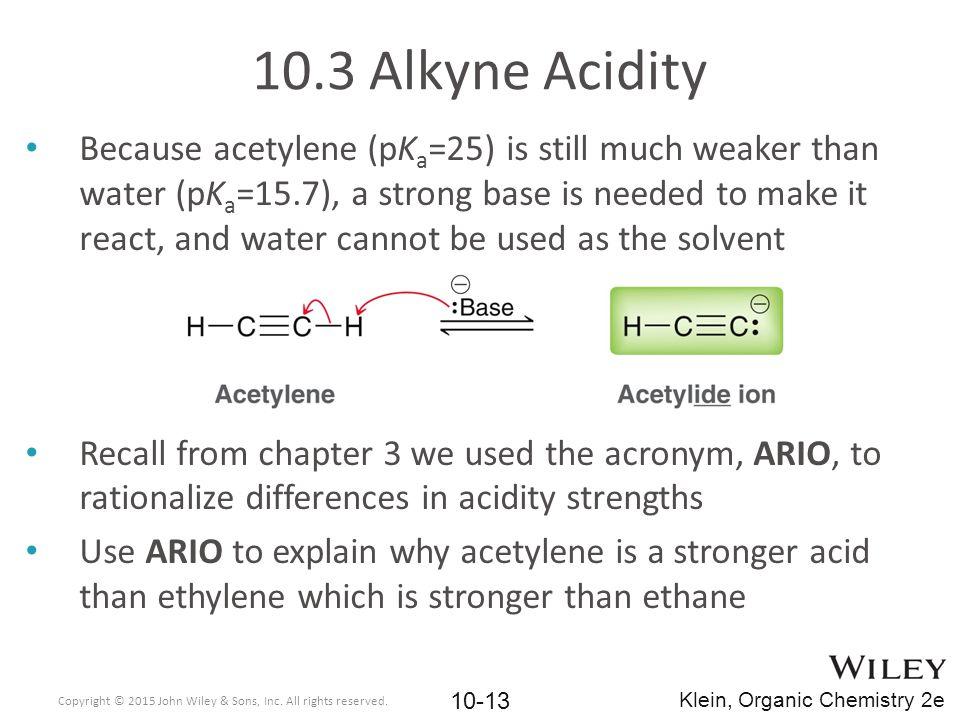 10.3 Alkyne Acidity