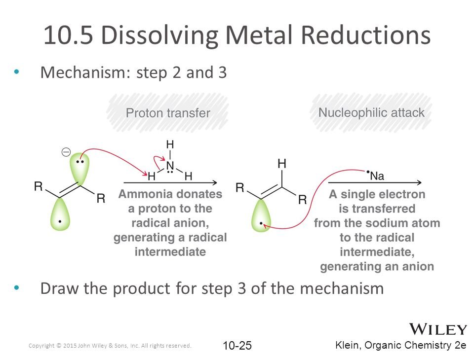 10.5 Dissolving Metal Reductions