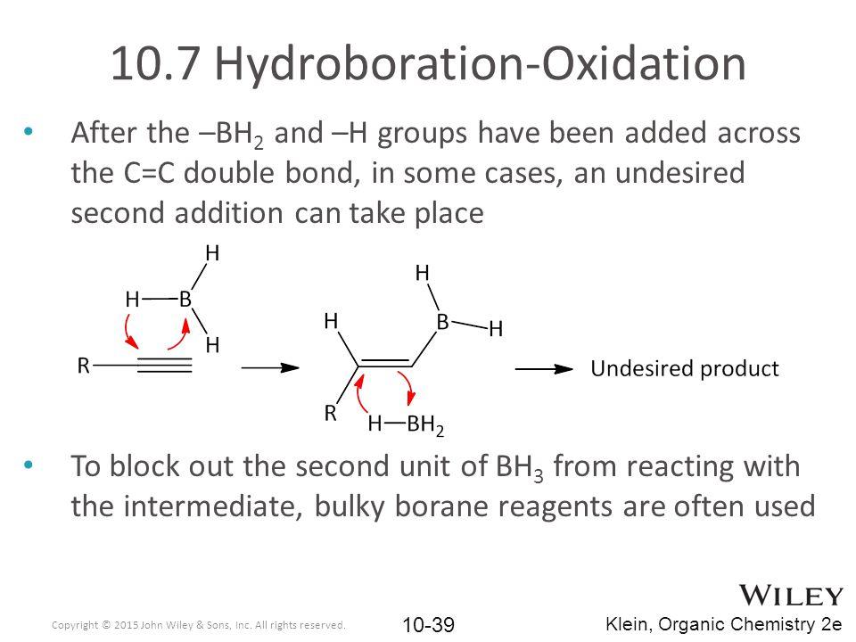 10.7 Hydroboration-Oxidation