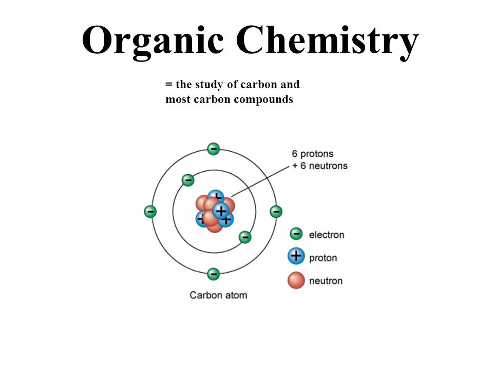 Organic Chemistry = the study of carbon and most carbon compounds