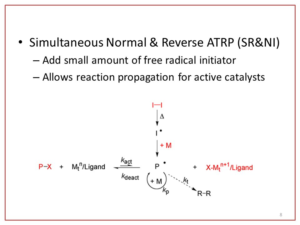 Simultaneous Normal & Reverse ATRP (SR&NI)