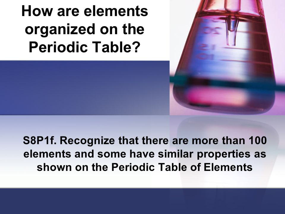 How are elements organized on the Periodic Table