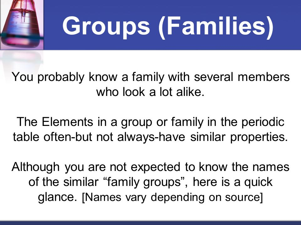 Groups (Families)
