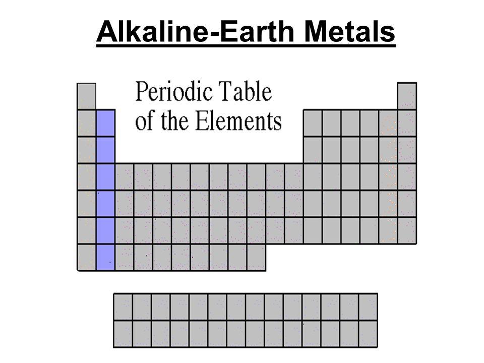 Alkaline-Earth Metals