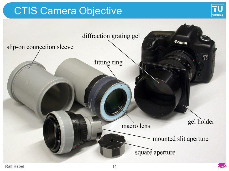 CTIS Camera Objective Ralf Habel
