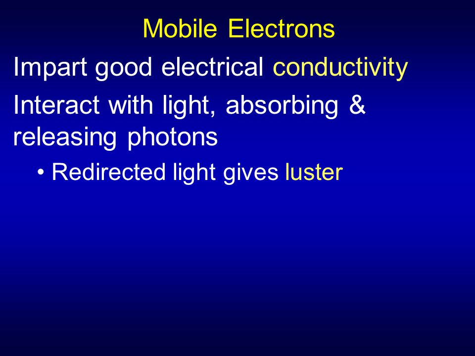 Impart good electrical conductivity