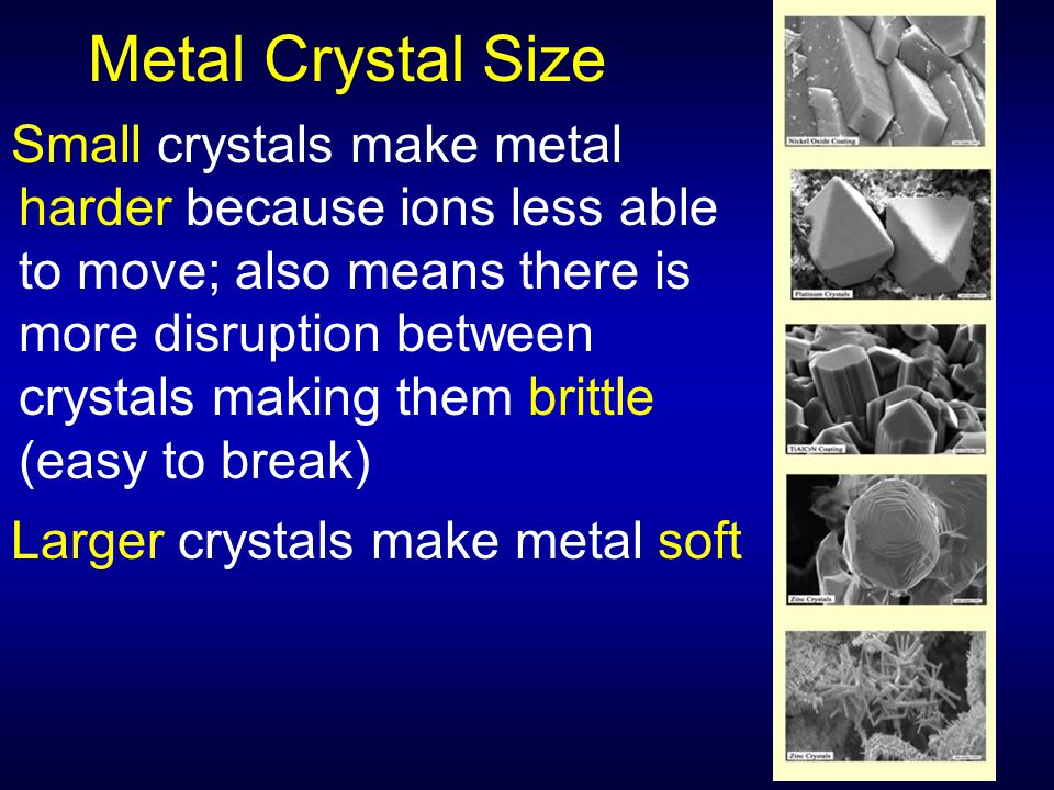 Metal Crystal Size