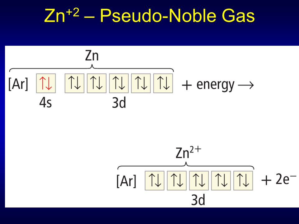 Zn+2 – Pseudo-Noble Gas