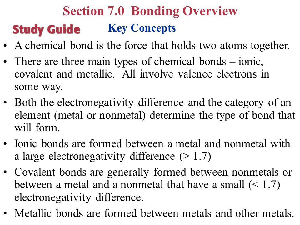 Section 7.0 Bonding Overview