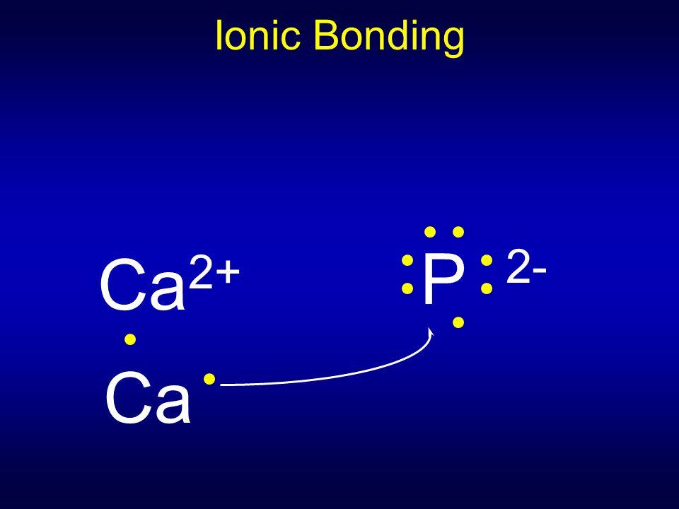 Ionic Bonding P 2- Ca2+ Ca