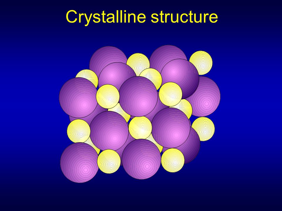 Crystalline structure