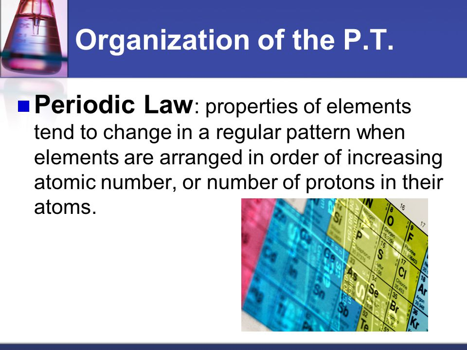 Organization of the P.T.
