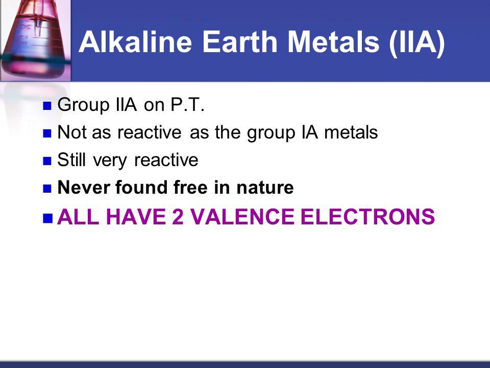 Alkaline Earth Metals (IIA)