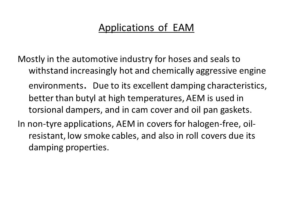 Applications of EAM