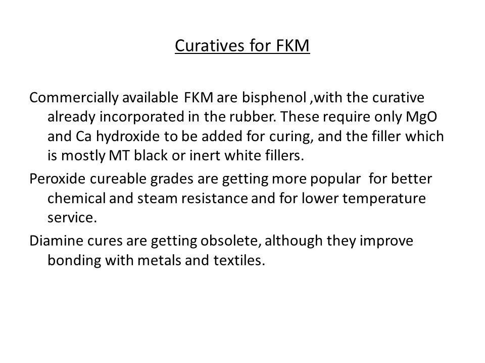 Curatives for FKM