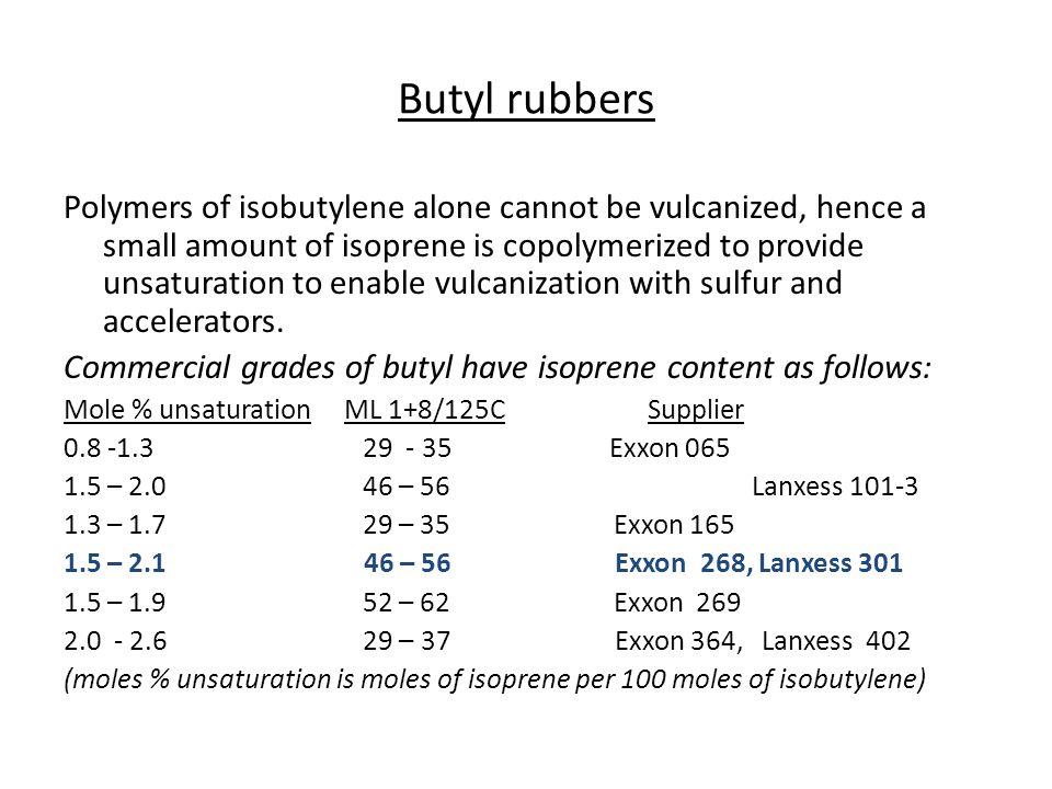 Butyl rubbers